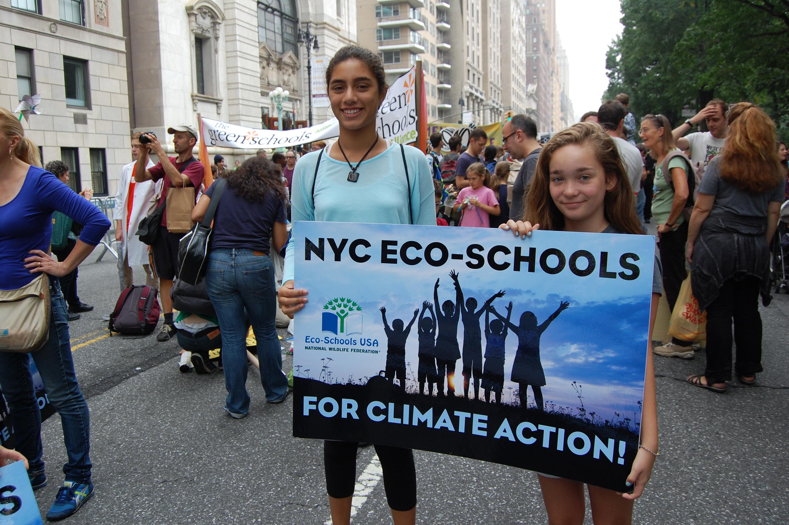 Eco-Schools USA marchers