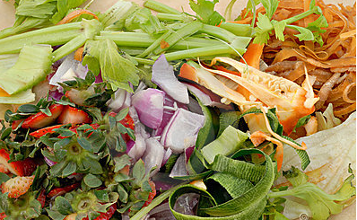 Compostable food scraps