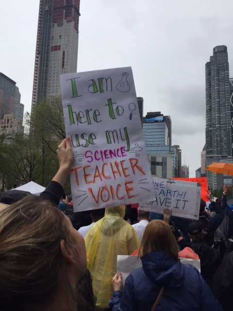 Marching with science teachers!