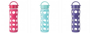 Reusable glass bottles with Silicon sleeves