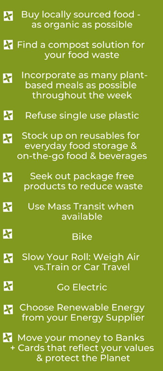 Sustainable eco-swaps checklist
